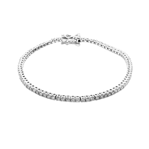 14K White Gold 3.30CT TW Lab Grown Diamond Tennis Bracelet