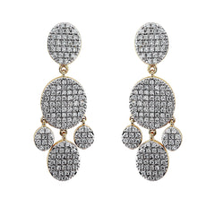 Blaze Lab-Grown Diamond Chandelier Earrings - 14k Gold Over Sterling Silver (1.79 ct. tw.)