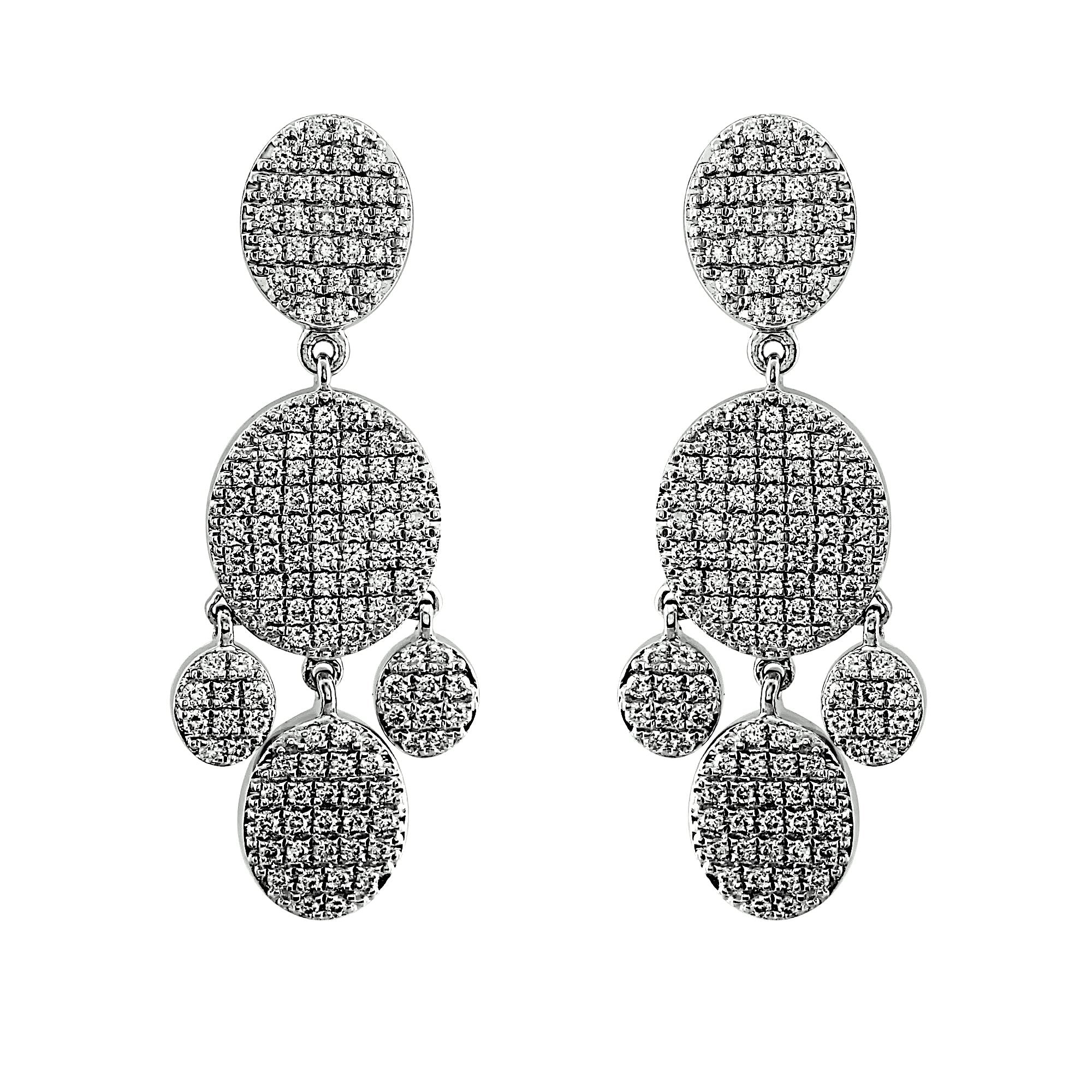 Blaze Lab-Grown Diamond Chandelier Earrings - Sterling (1.79 ct. tw.)