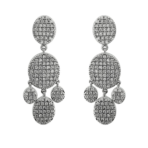 Blaze Lab-Grown Diamond Chandelier Earrings - Sterling Silver (1.79 ct. tw.)