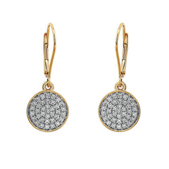 Blaze Lab-Grown Diamond Dangle Earrings - 14k Gold Over Sterling Silver (.50 ct. tw.)