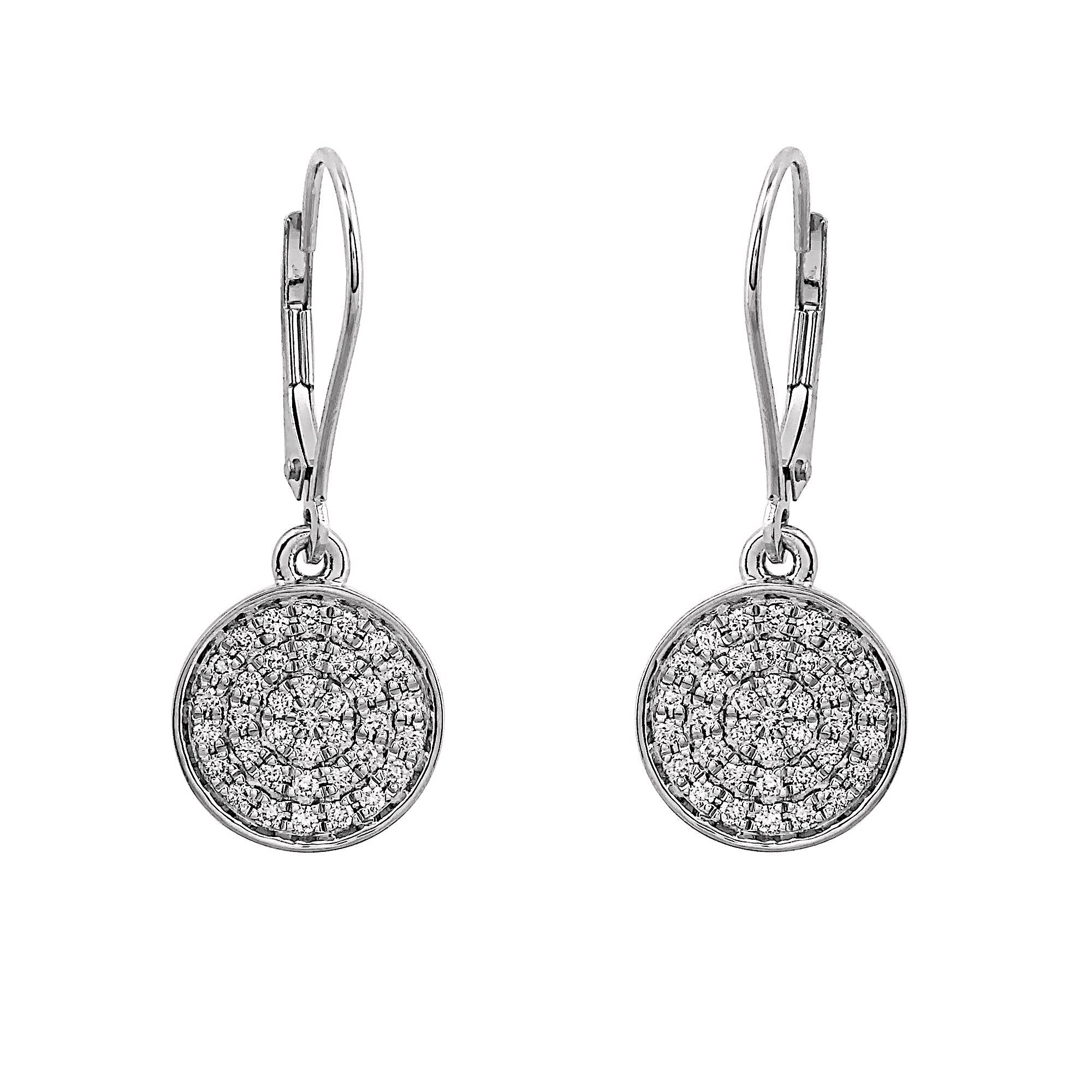 Blaze Lab-Grown Diamond Dangle Earrings - Sterling (.50 ct. tw.)