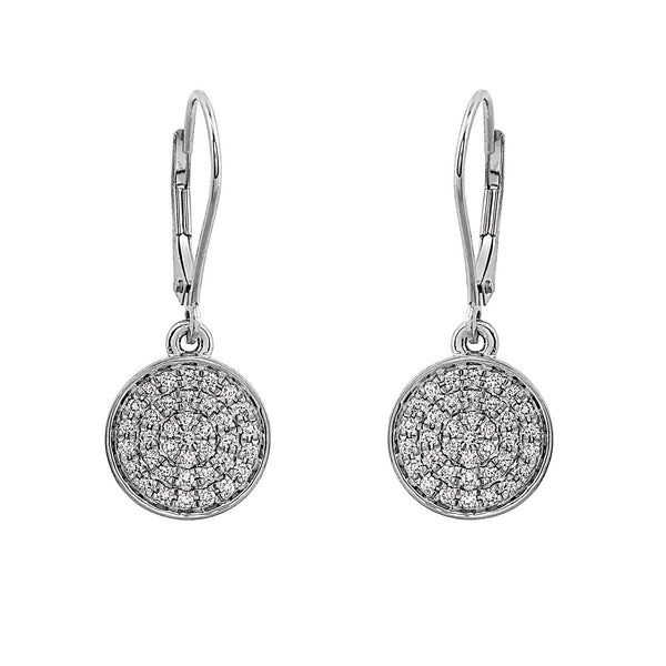 Blaze Lab-Grown Diamond Dangle Earrings - Sterling Silver (.50 ct. tw.)