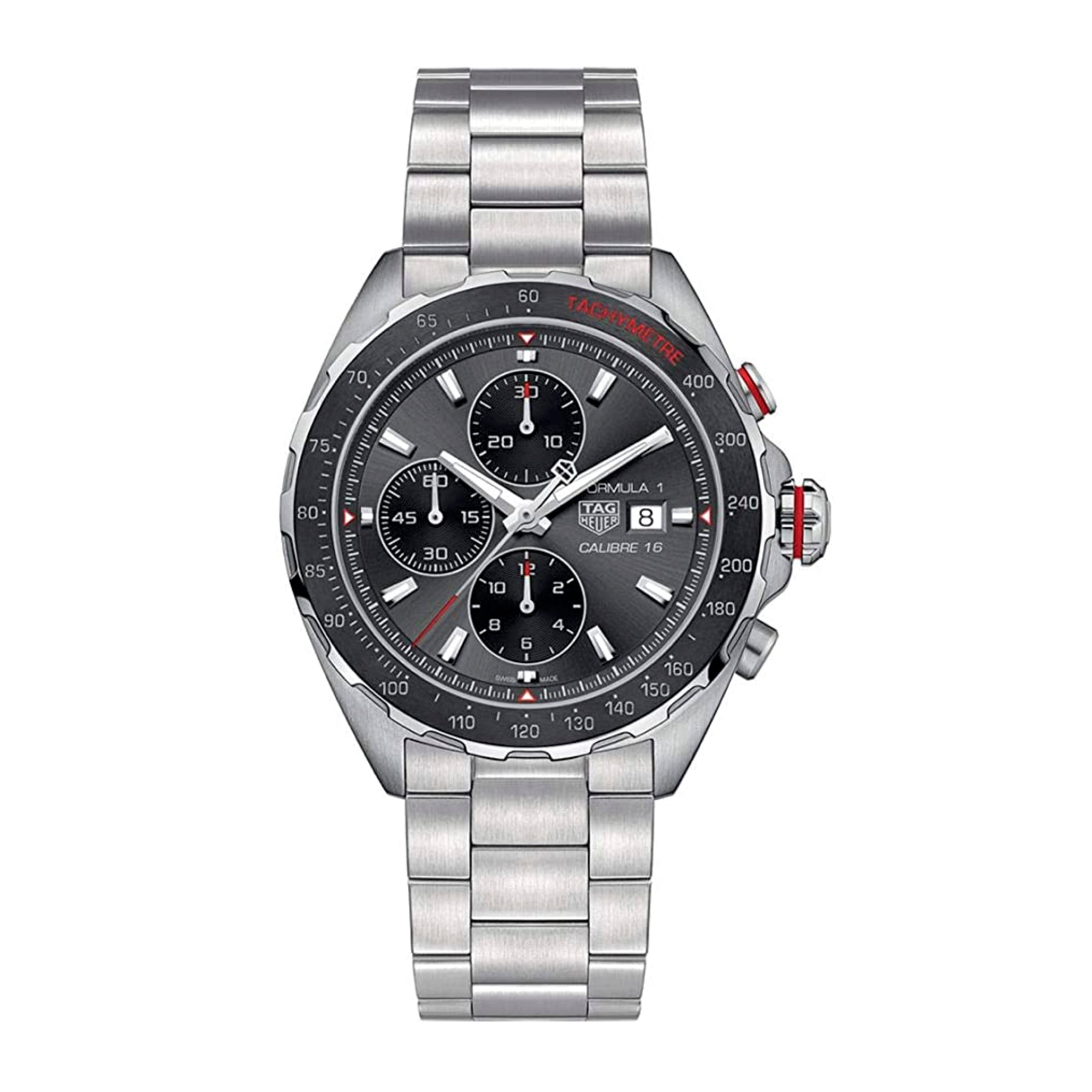 TAG Heuer Formula 1 Calibre 16 Automatic Mens Grey Steel Chronograph