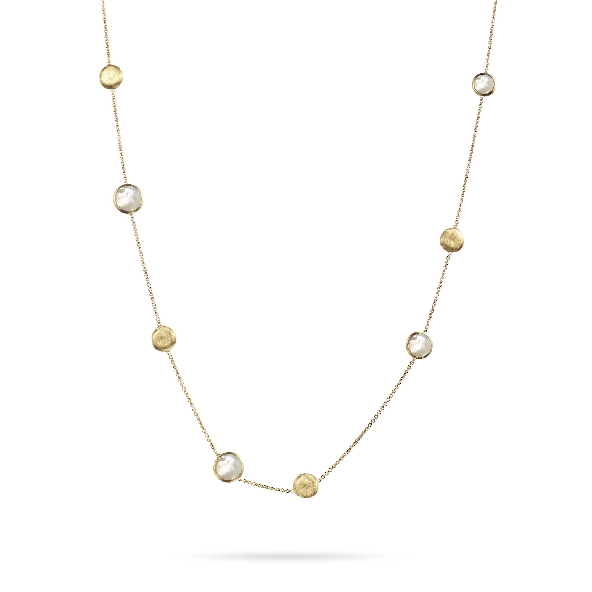 18K Yellow Gold 1-Strand Mother Of Pearl Necklace