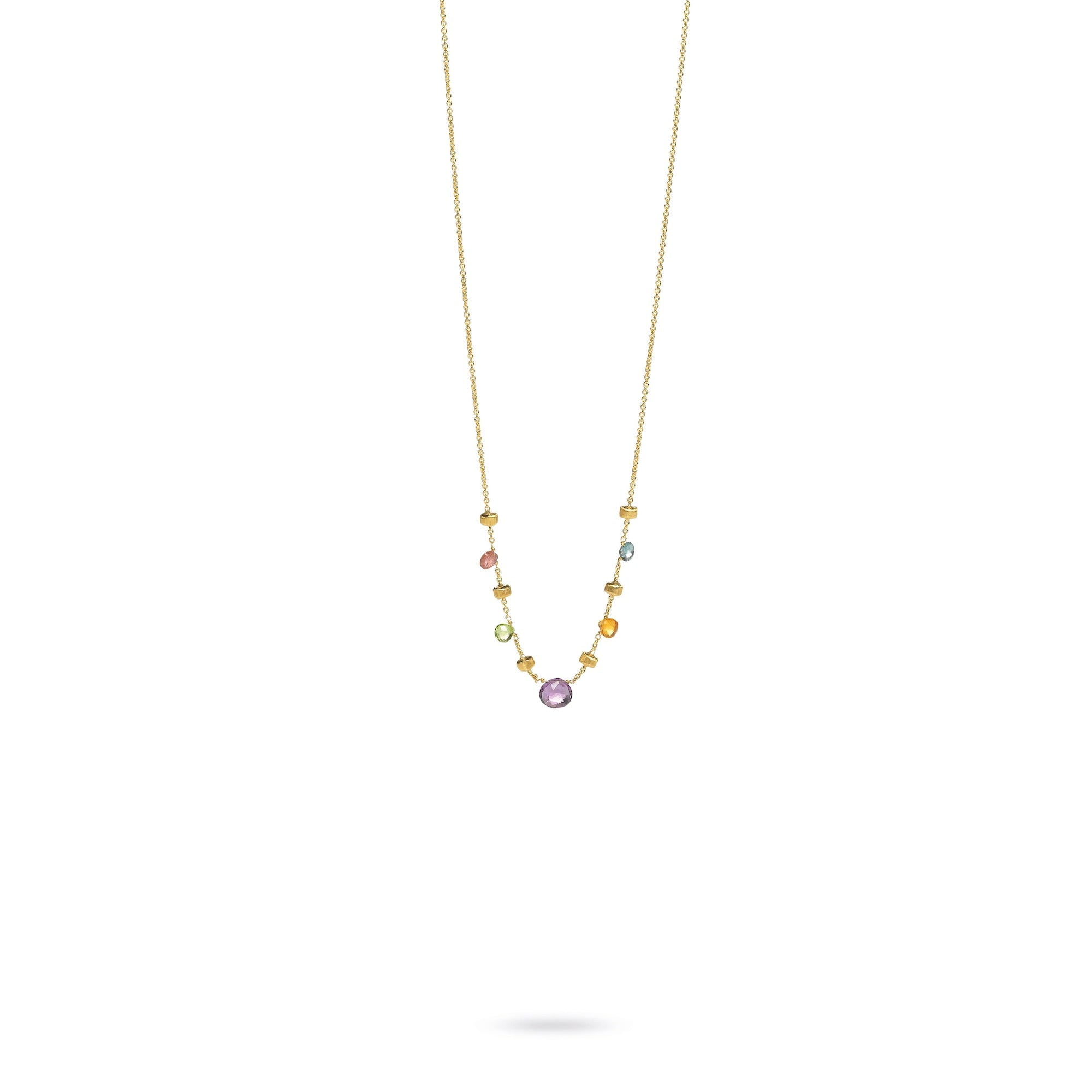 18K Yellow Gold & Mixed Stone Paradise Necklace