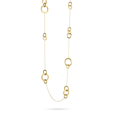 18K Yellow Gold  Link Long Necklace
