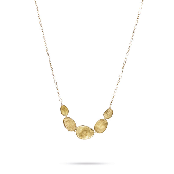 18K Yellow Gold Graduated Necklace
