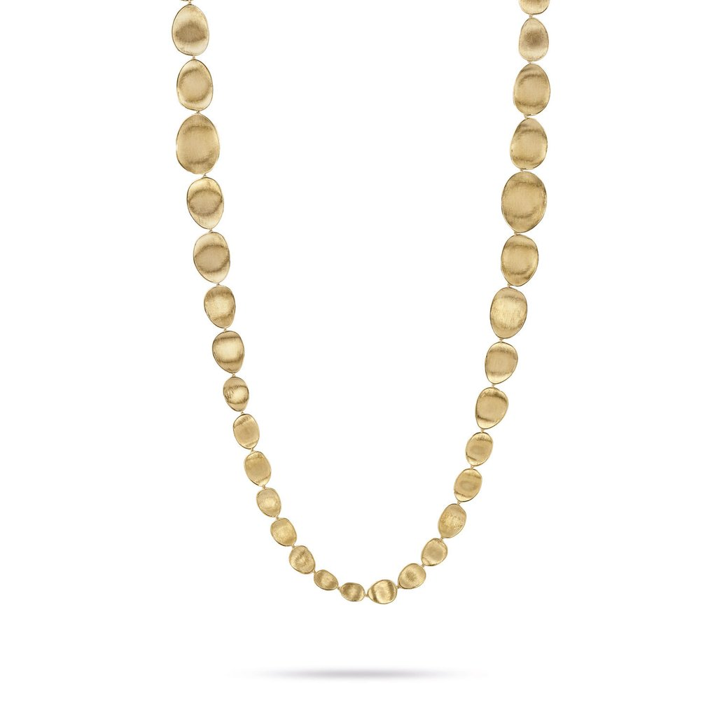 18K Yellow Gold  Medium Double Wave Necklace