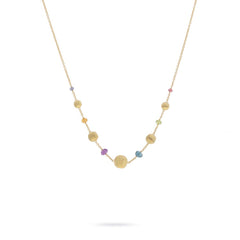 18k Yellow Gold and Multi-Colored Gemstone Necklace