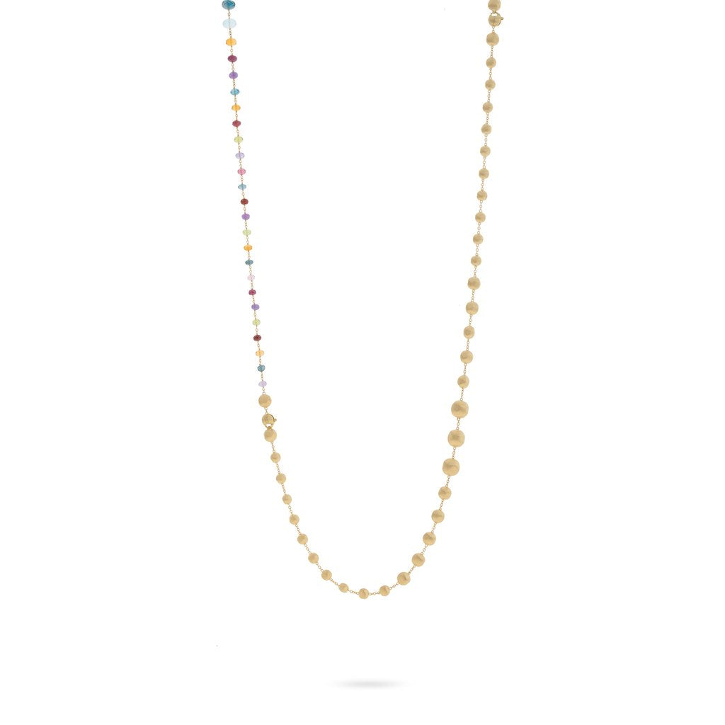 18K Yellow Gold and Multi-Colored Gemstone Convertible Necklace