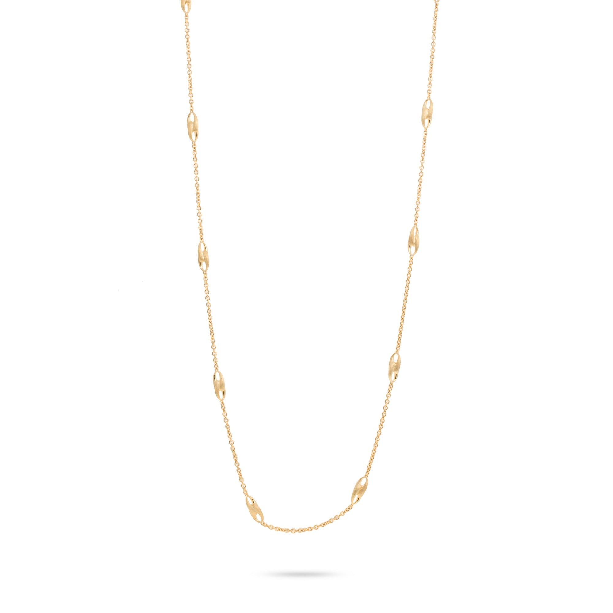 18K Yellow Gold Long Link Necklace