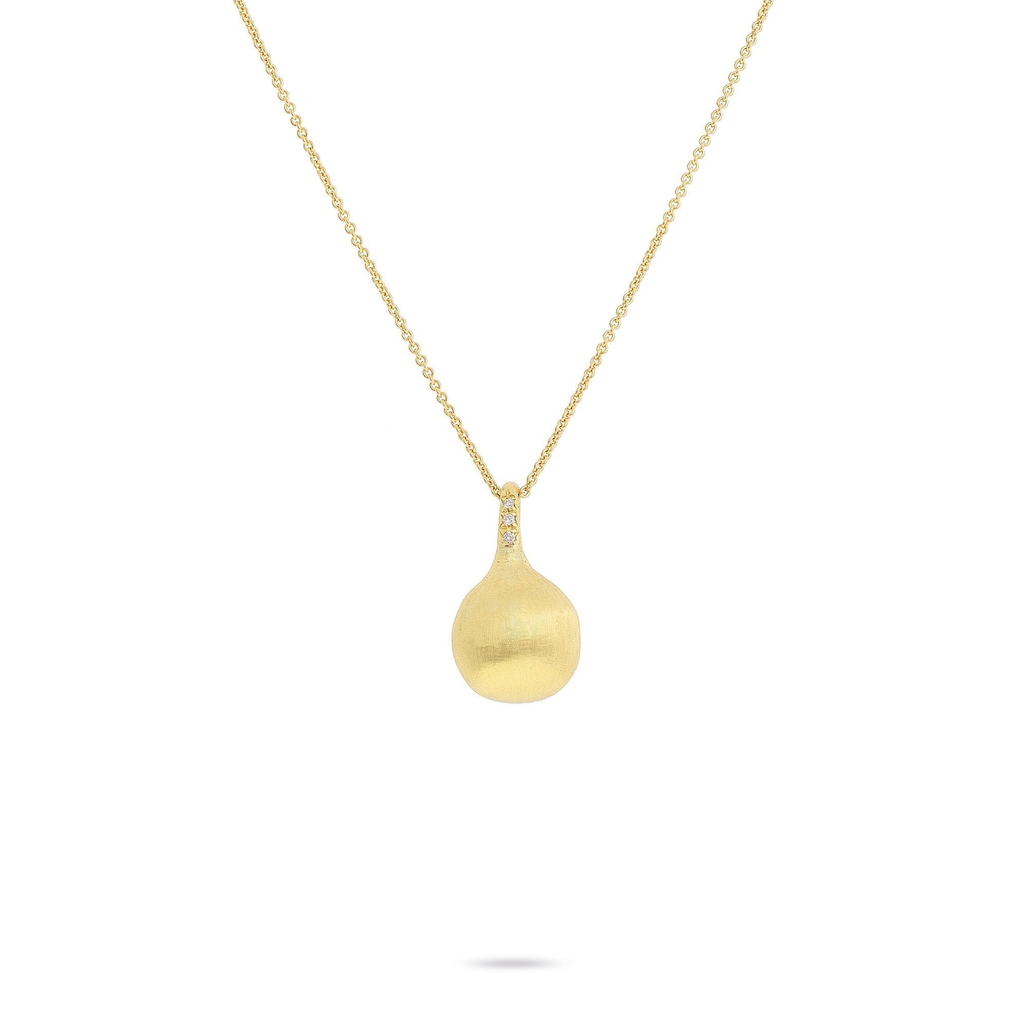 Africa Boule 18K Yellow Gold and Diamond Pendant