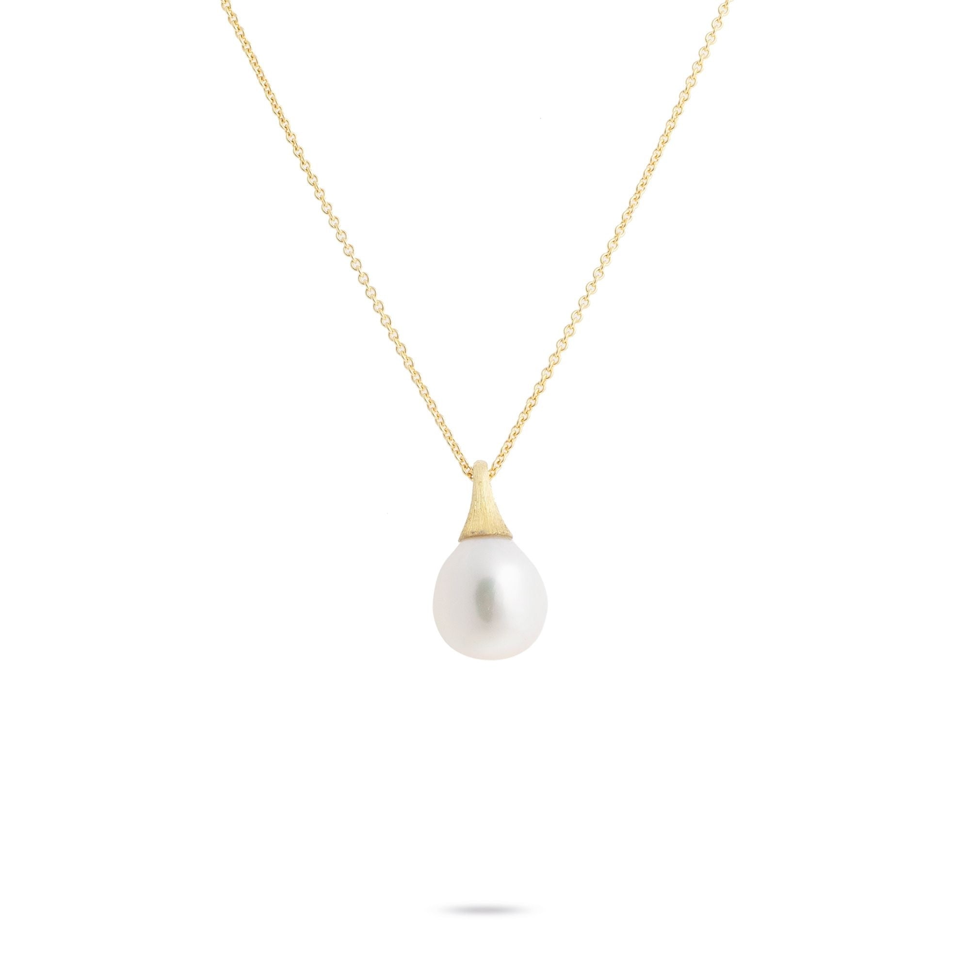 Africa Boule 18K Yellow Gold and Pearl Pendant