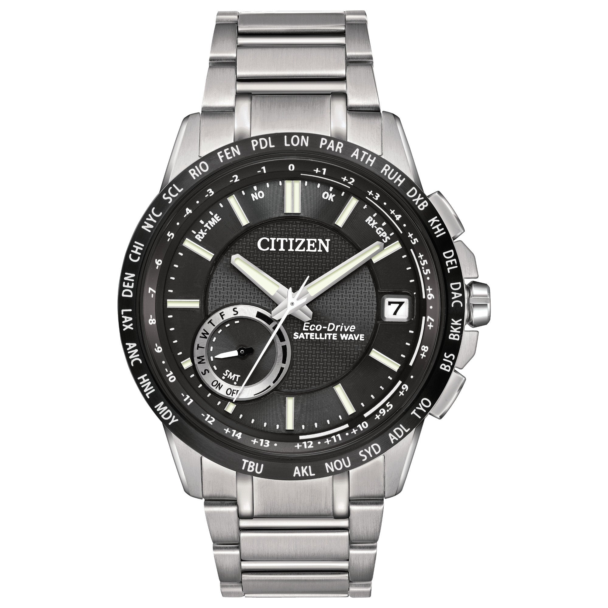 CITIZEN SATELLITE WAVE - WORLD TIME GPS CC3005-85E