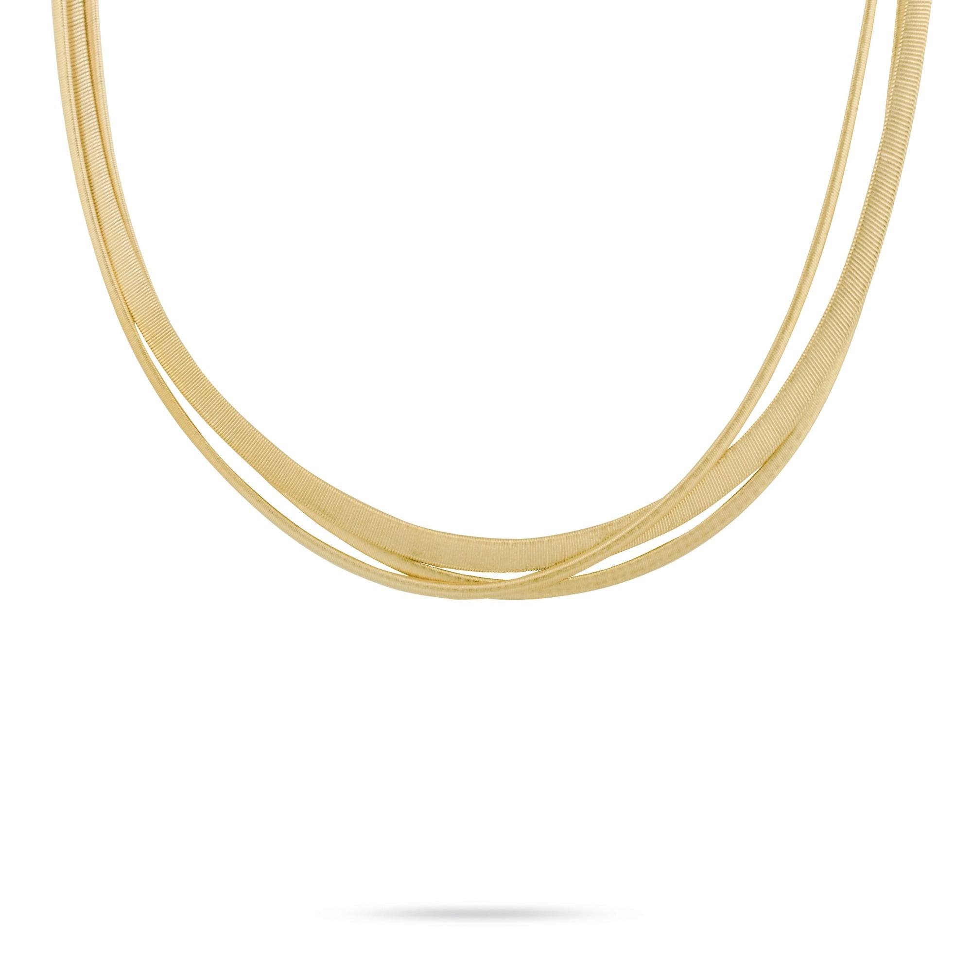 18K Yellow Gold Multi Strand Necklace