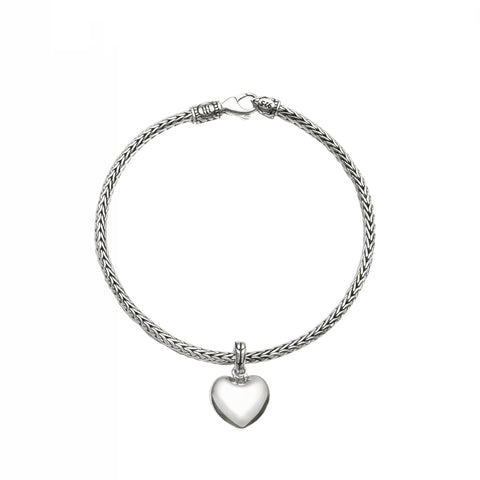 Classic Chain Heart Charm Mini Chain Bracelet