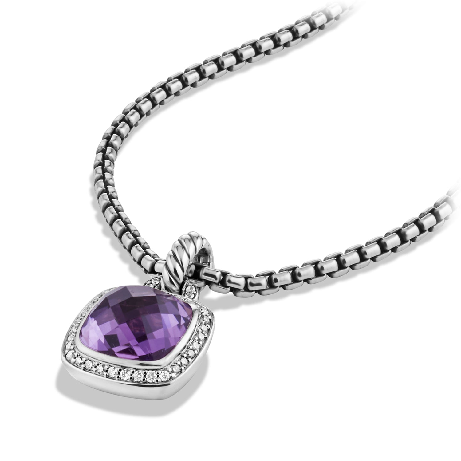 Pendant with Amethyst and Diamonds
