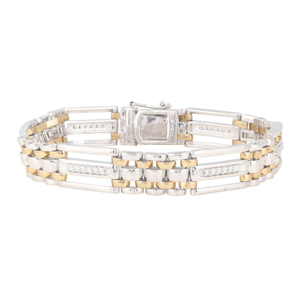 0.75 CTW Gents Fancy Link Diamond Bracelet