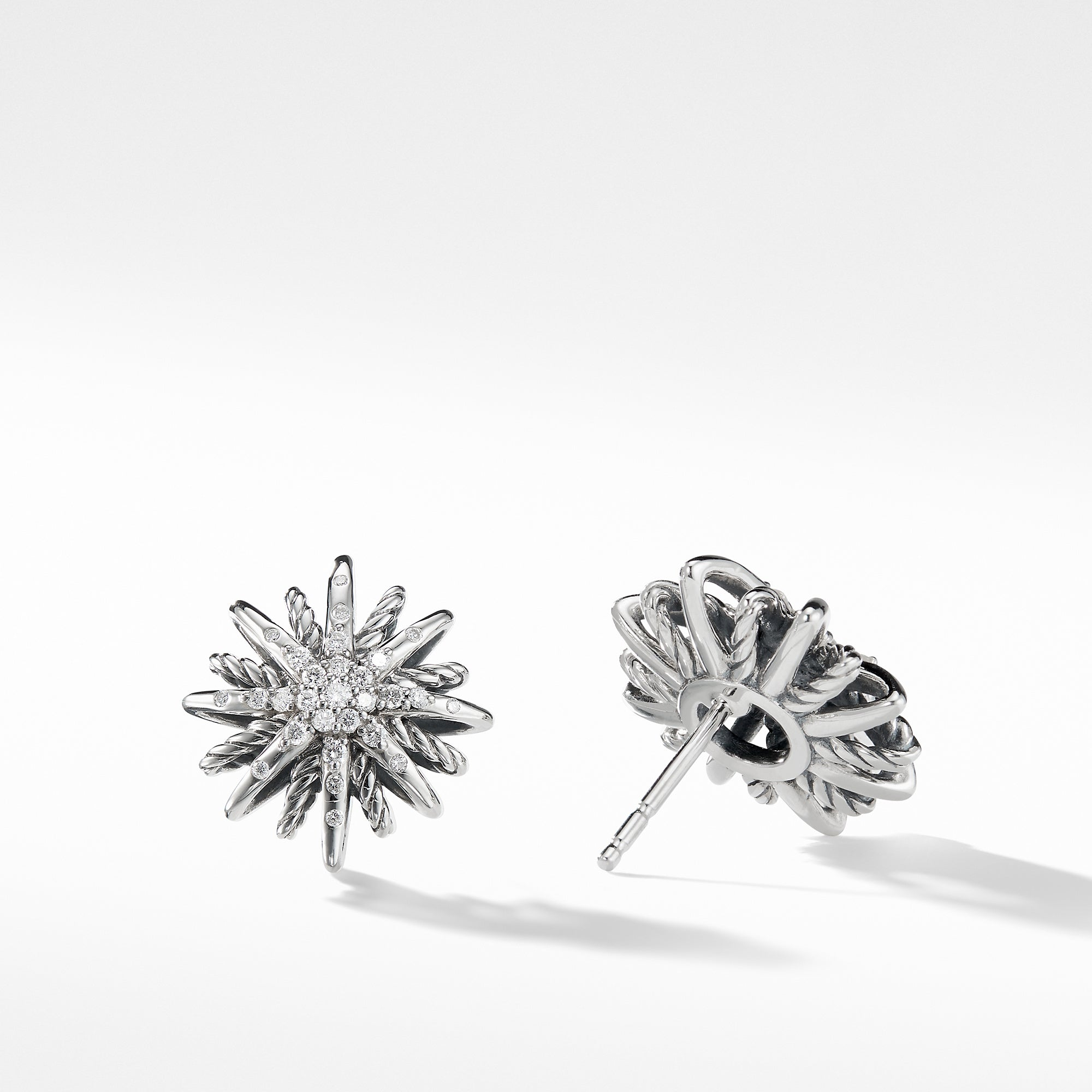 Starburst Small Earrings with Diamonds