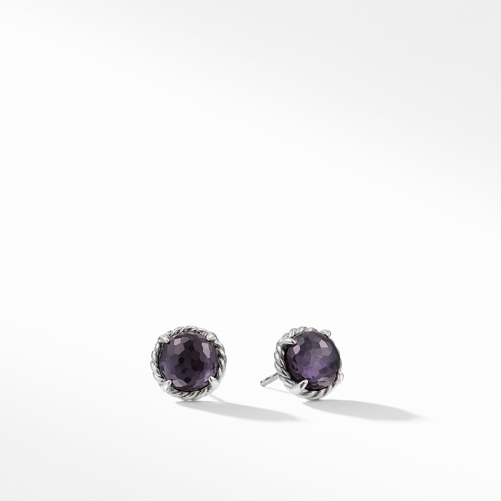 Earrings with Black Orchid