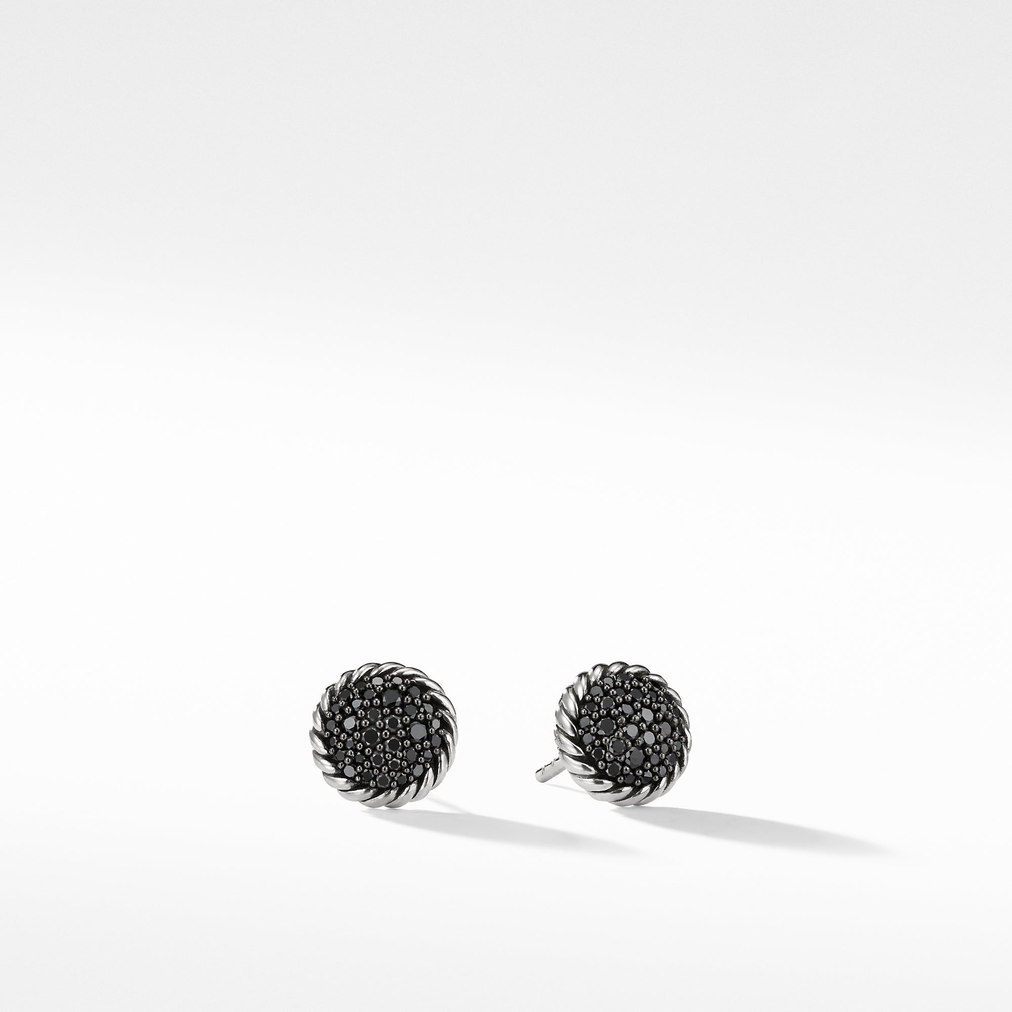 Chatelaine Earrings with Black Diamonds