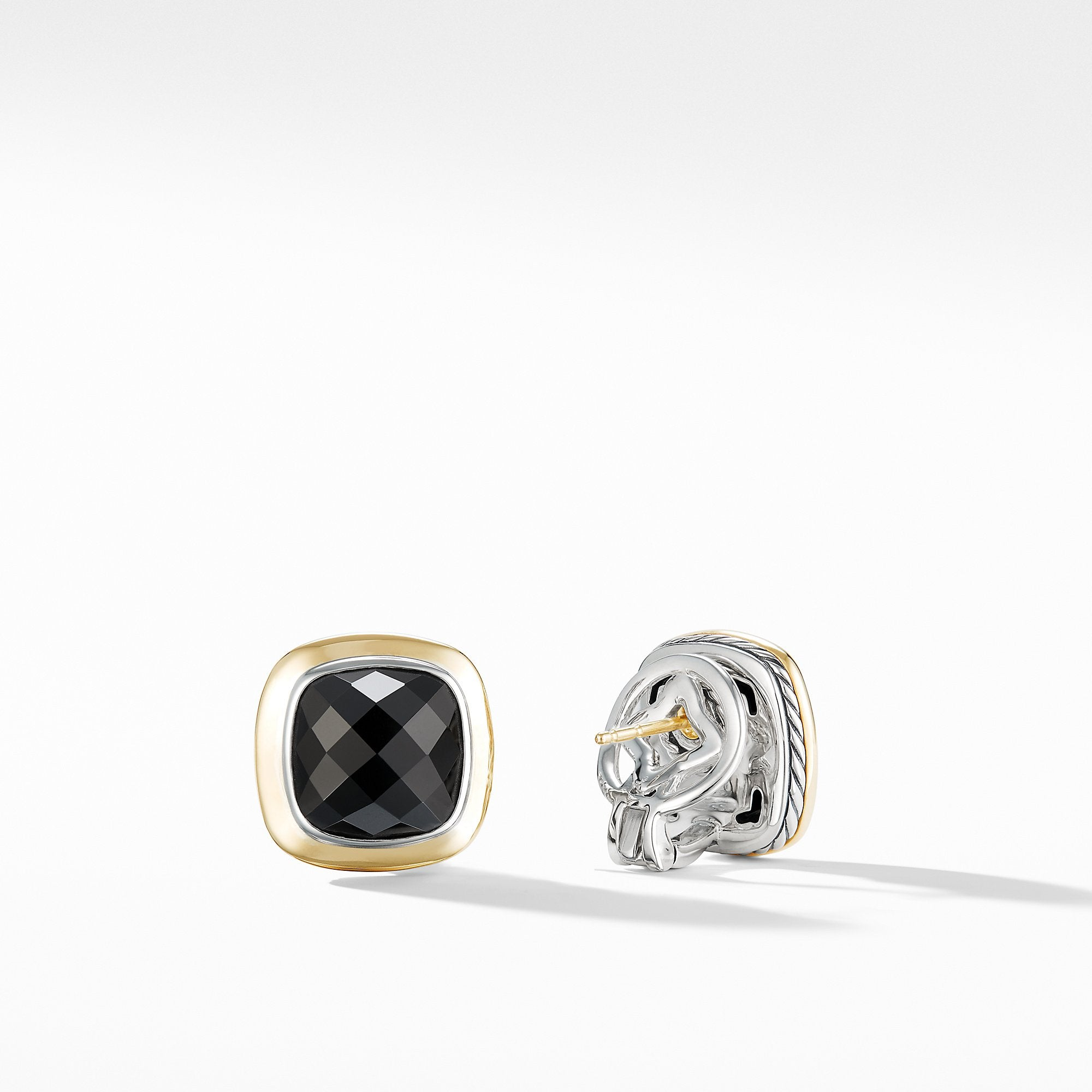Albion® Stud Earrings with 18K Gold and Black Onyx
