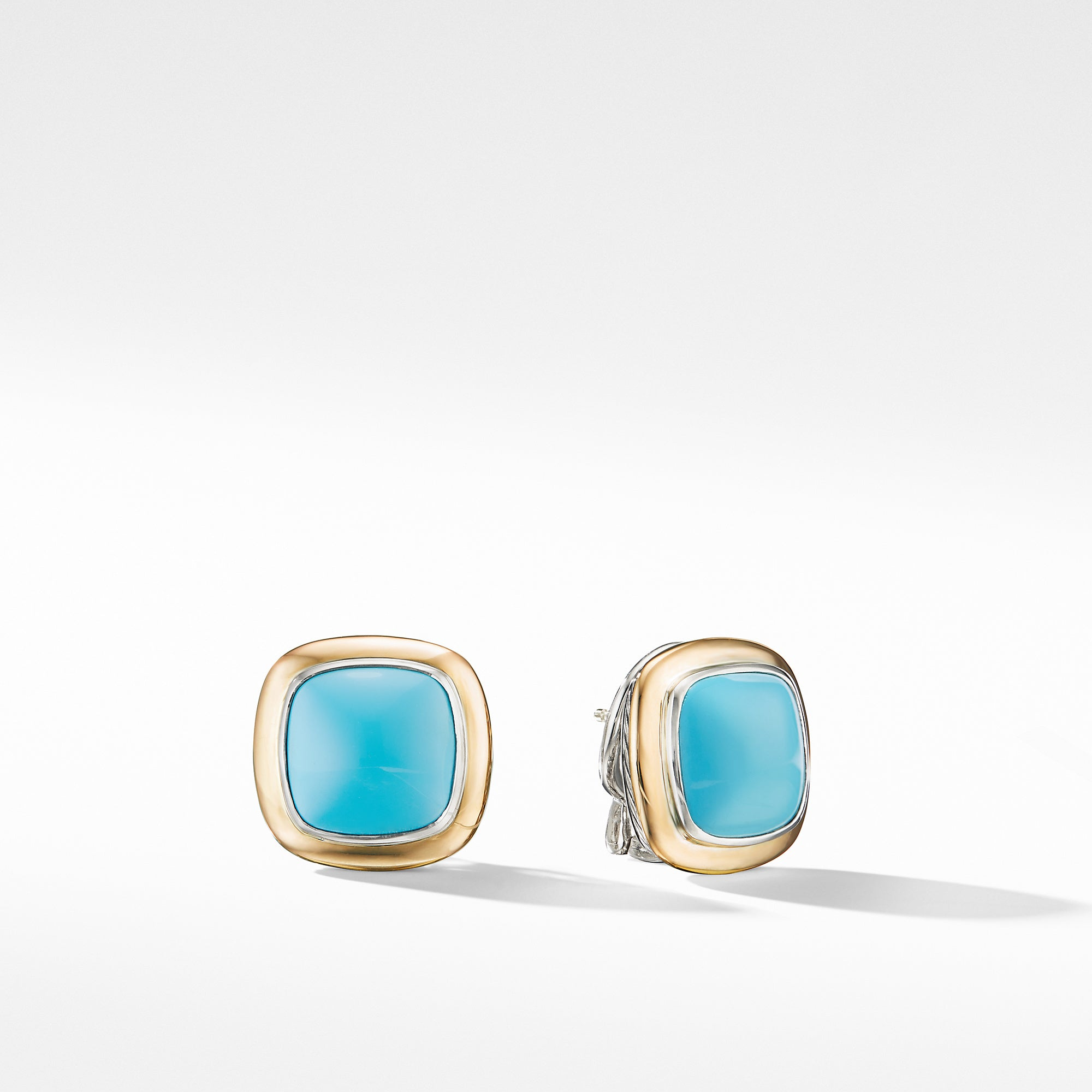 Albion® Stud Earrings with 18K Gold and Reconstituted Turquoise