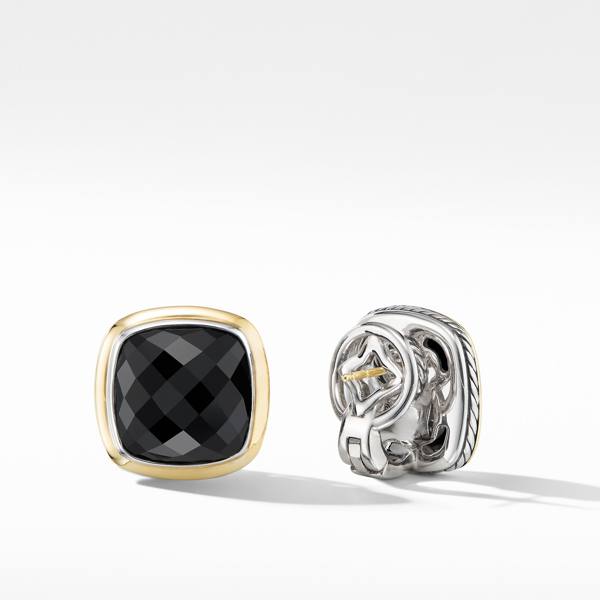 Albion® Stud Earrings with Black Onyx and 18K Yellow Gold