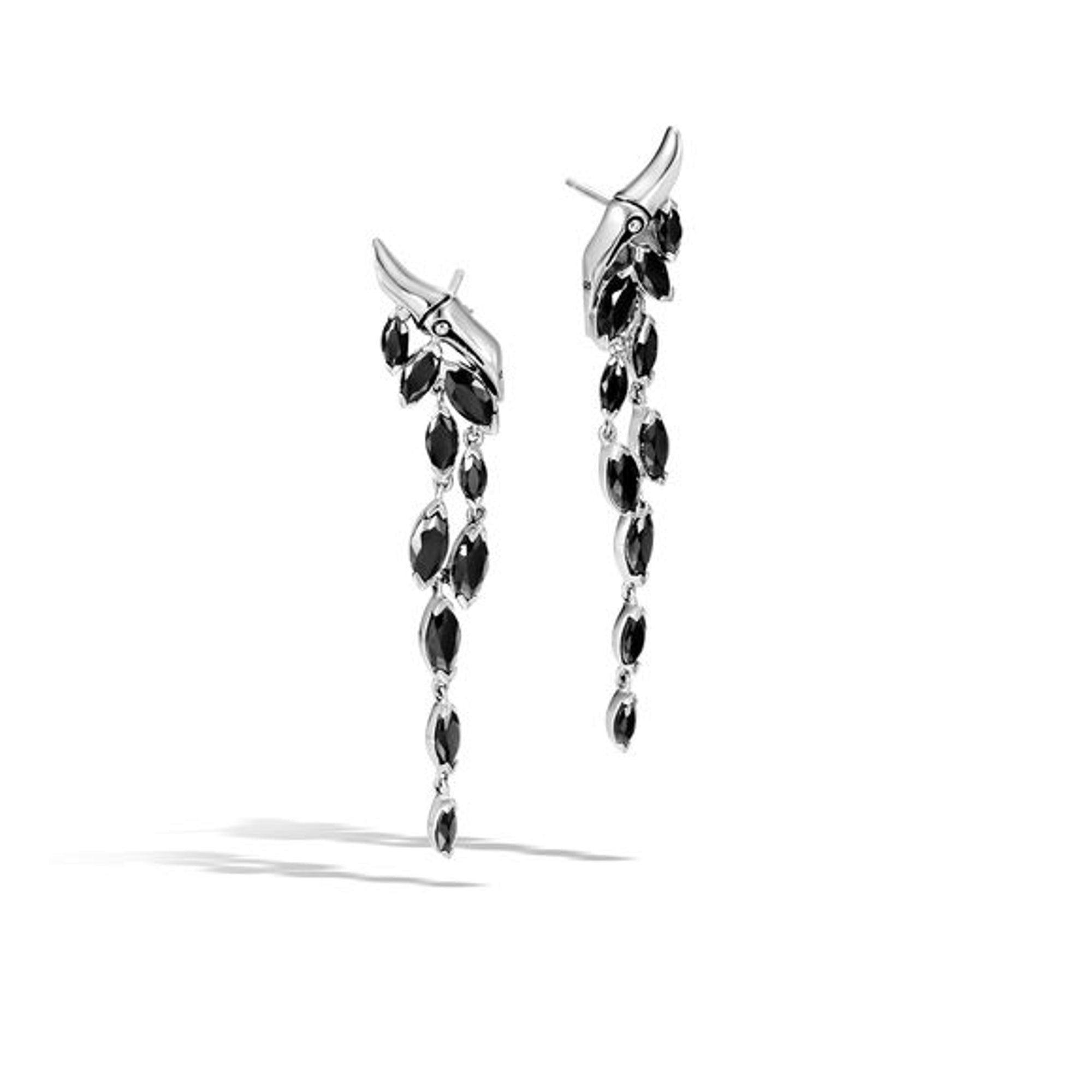 Women's Drop Earrings with Black Spinel