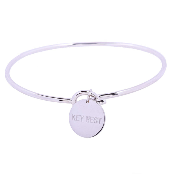 Key West Love Sterling Silver Charm Bangle