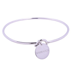 Barbados Love Sterling Silver Charm Bangle