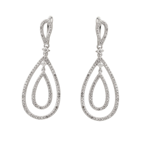 1.0 CTW Diamond Dangle Earring