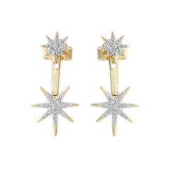 0.18 CTW Diamond Star Drop Earring