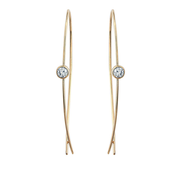 Phoenix Lab-Grown Diamond Hoop Earrings - 14k Gold Over Sterling Silver (.40 ct. tw.)