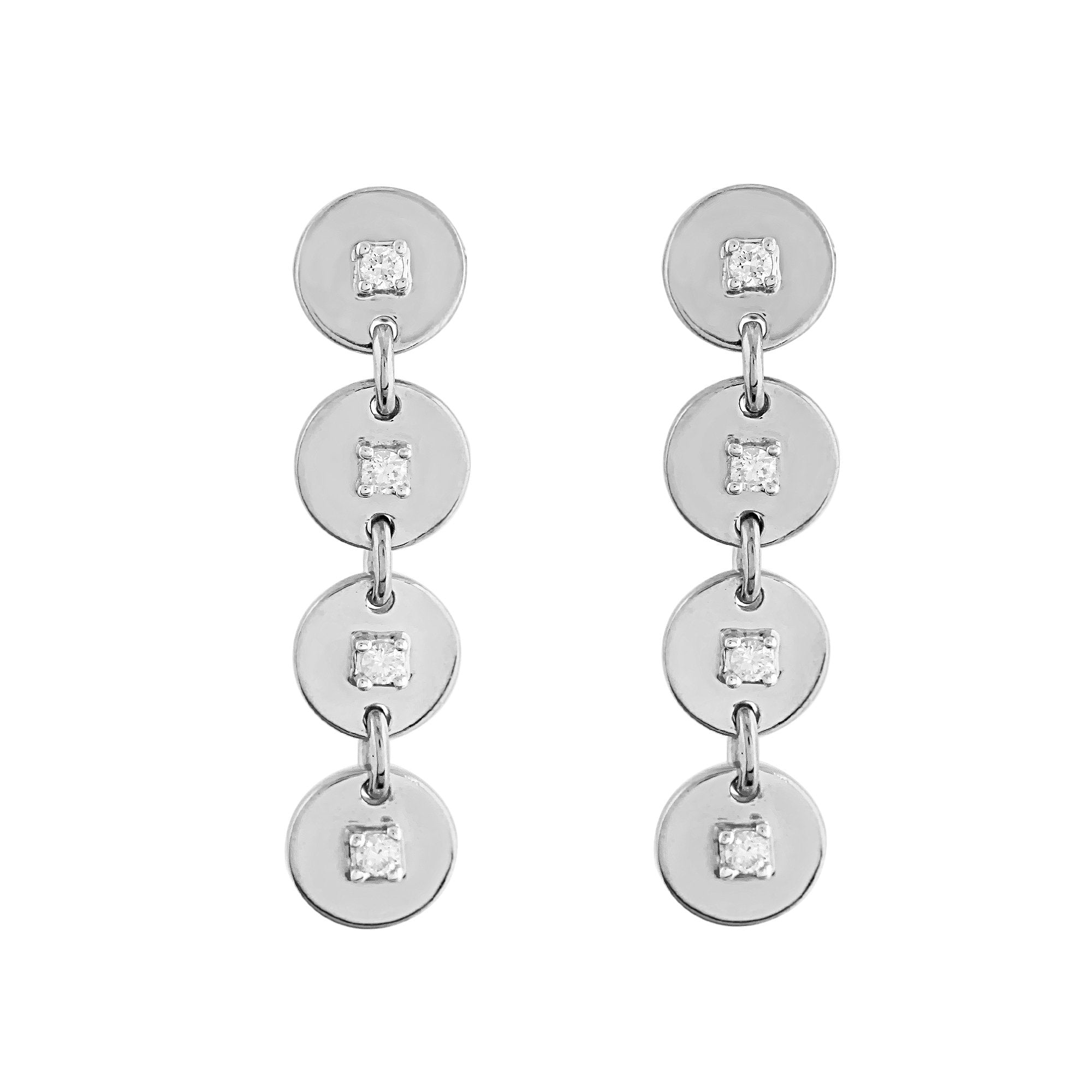 Phoenix Lab-Grown Diamond Drop Earrings - Sterling Silver (.14 ct. tw.)