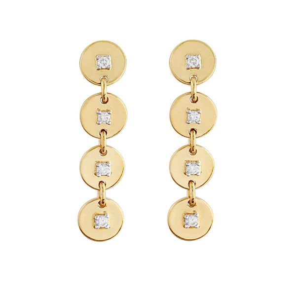 Phoenix Lab-Grown Diamond Drop Earrings - 14k Gold Over Sterling Silver (.14 ct. tw.)
