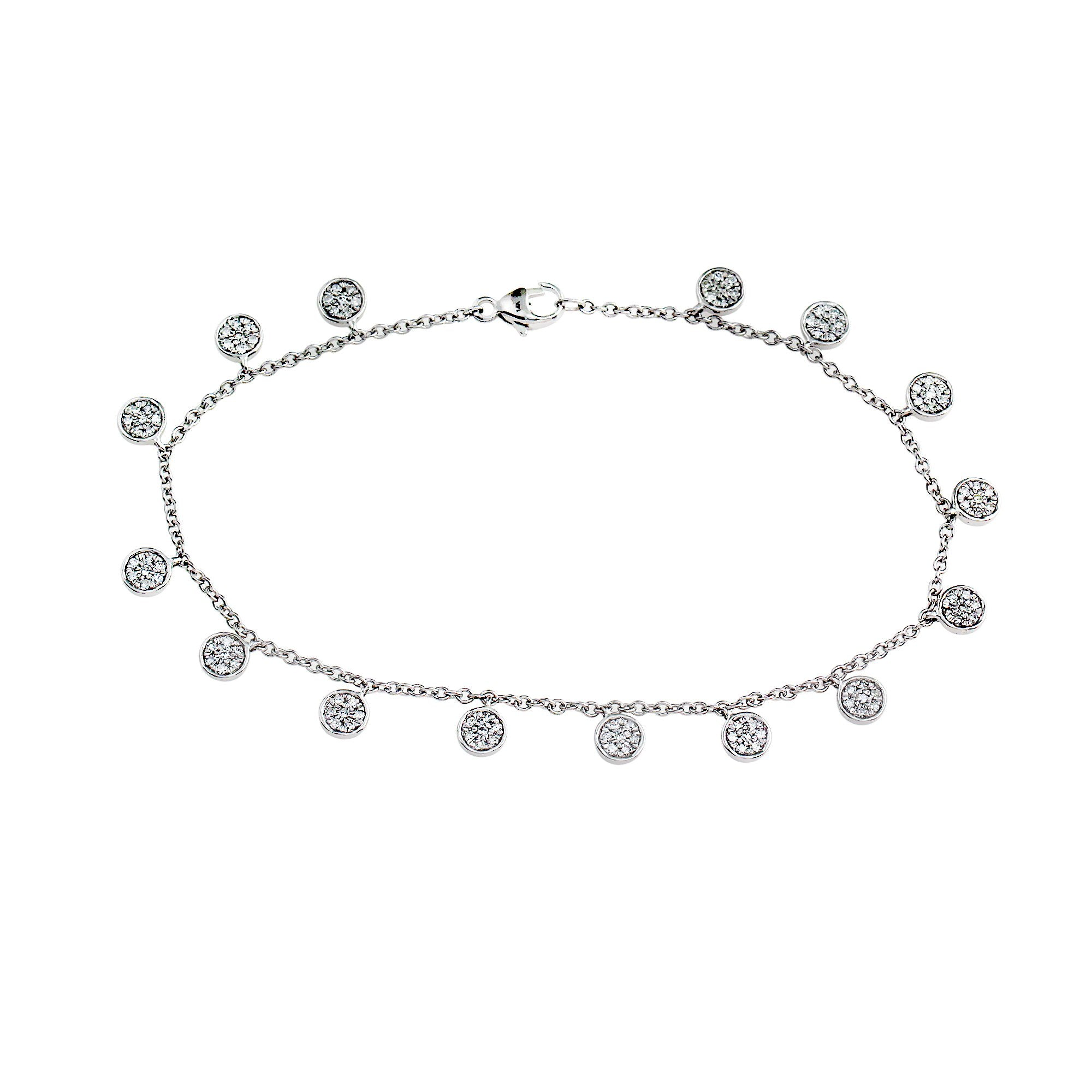 Blaze Lab-Grown Diamond Dangle Bracelet - Sterling Silver (.52 ct. tw.)