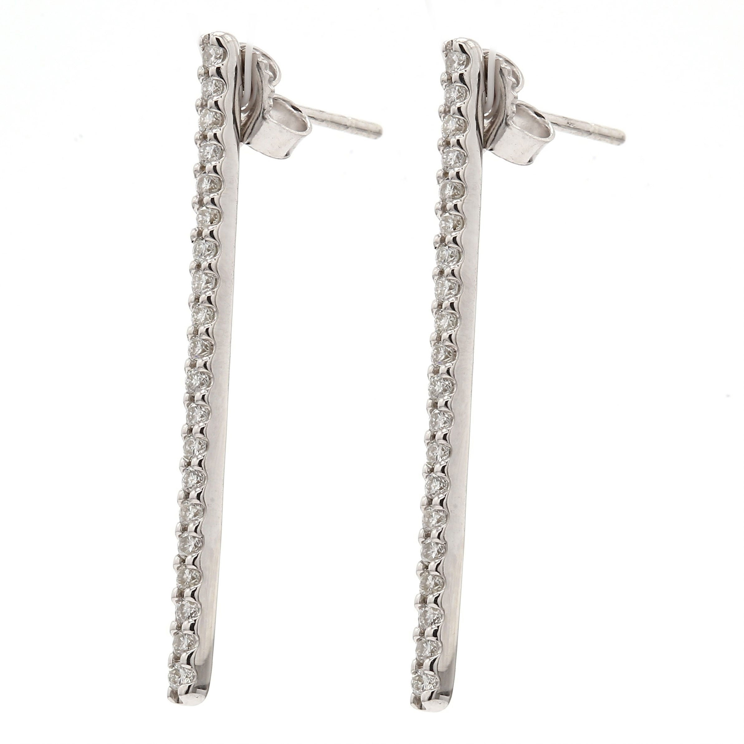 Flash Long Bar Lab-Grown Diamond Stud Earrings - Sterling Silver (.38 ct. tw.)