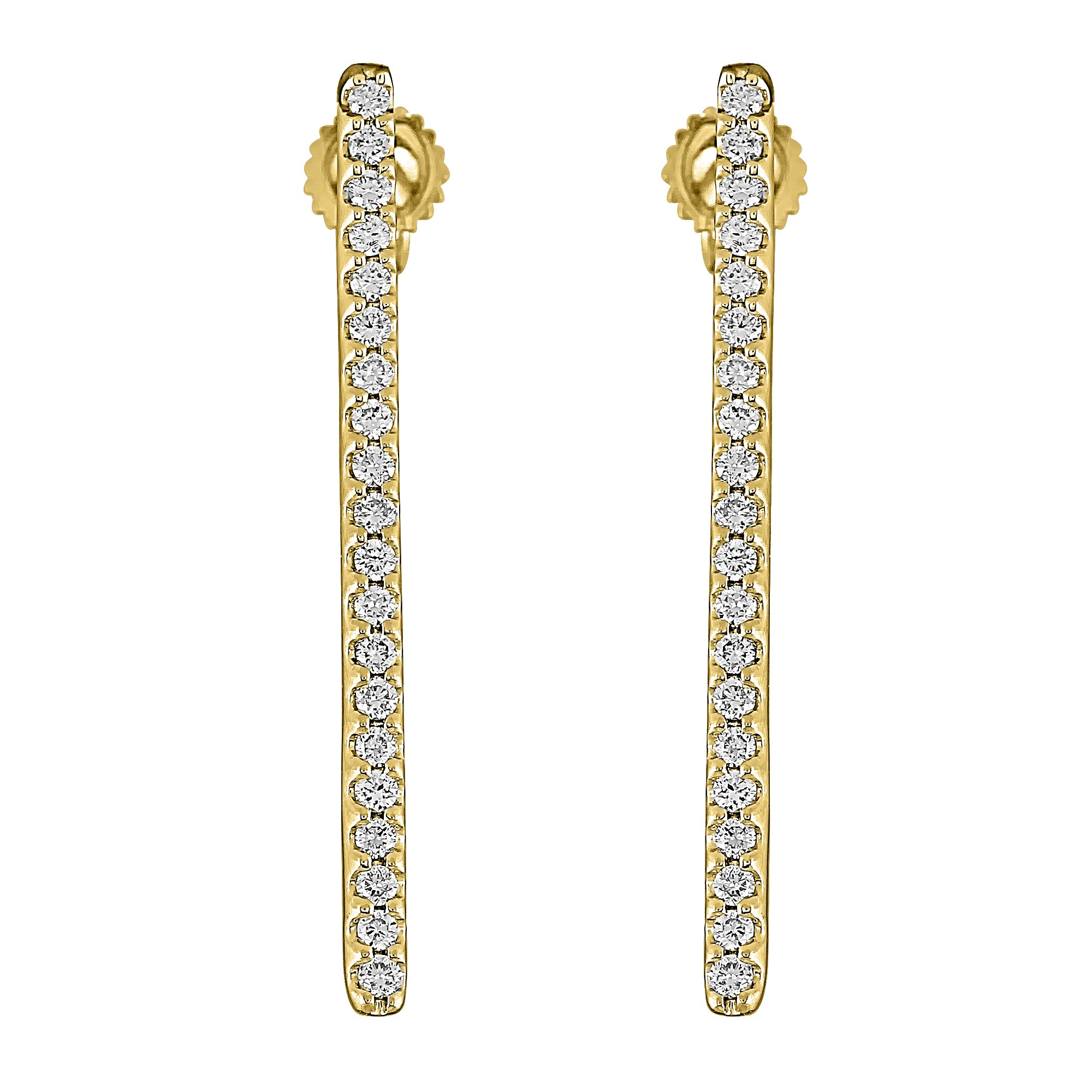 Flash Long Bar Lab-Grown Diamond Stud Earrings - 14k Gold Over Sterling Silver (.38 ct. tw.)