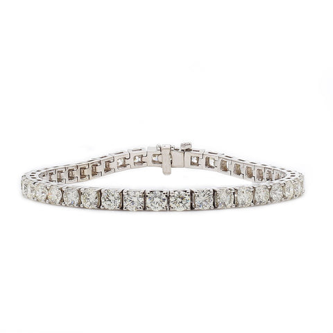 10.00CTW Lab-Grown Diamond Tennis Bracelet in 14K White Gold