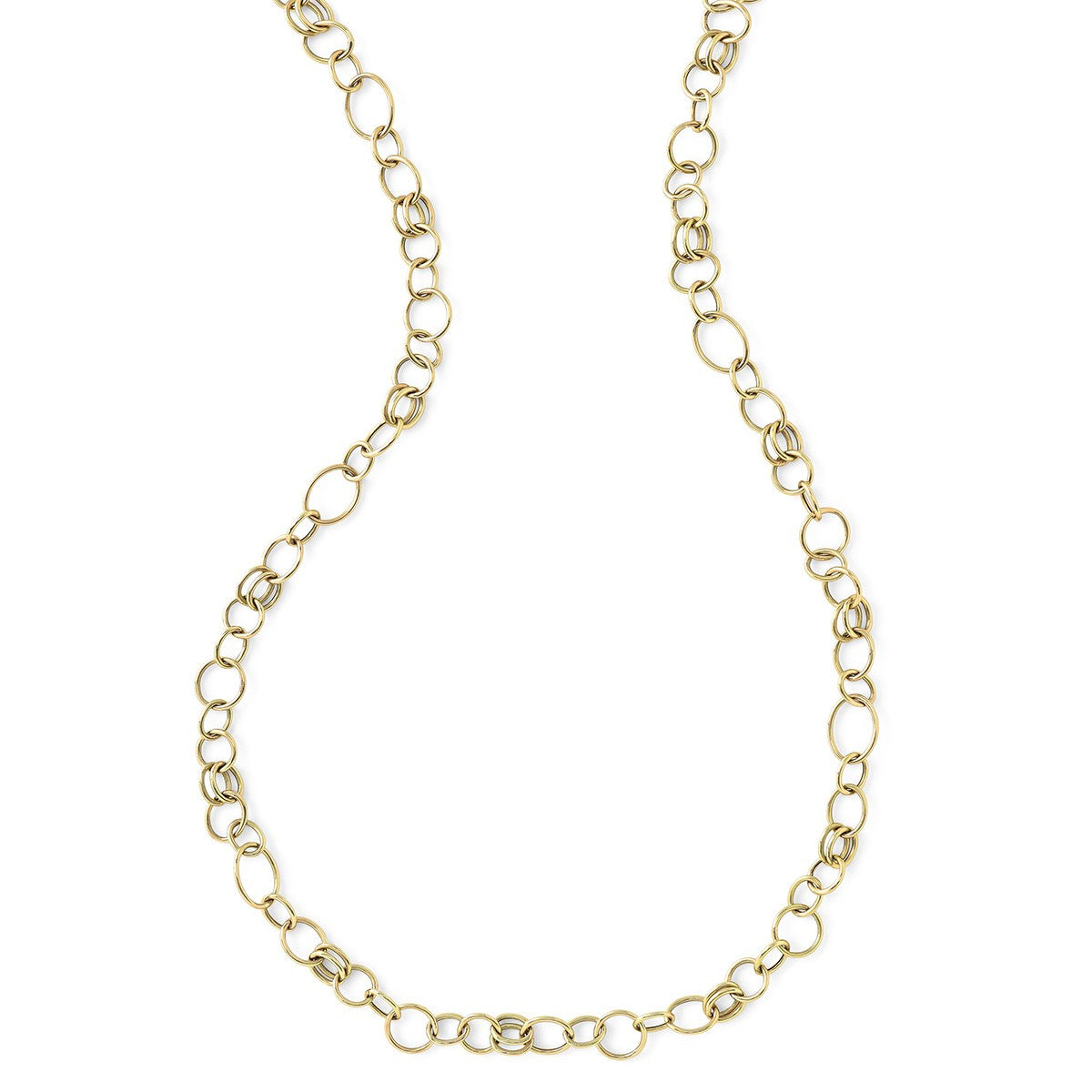 GLAMAZON 18K GOLD CLASSIC LAYER CHAIN NECKLACE 34""