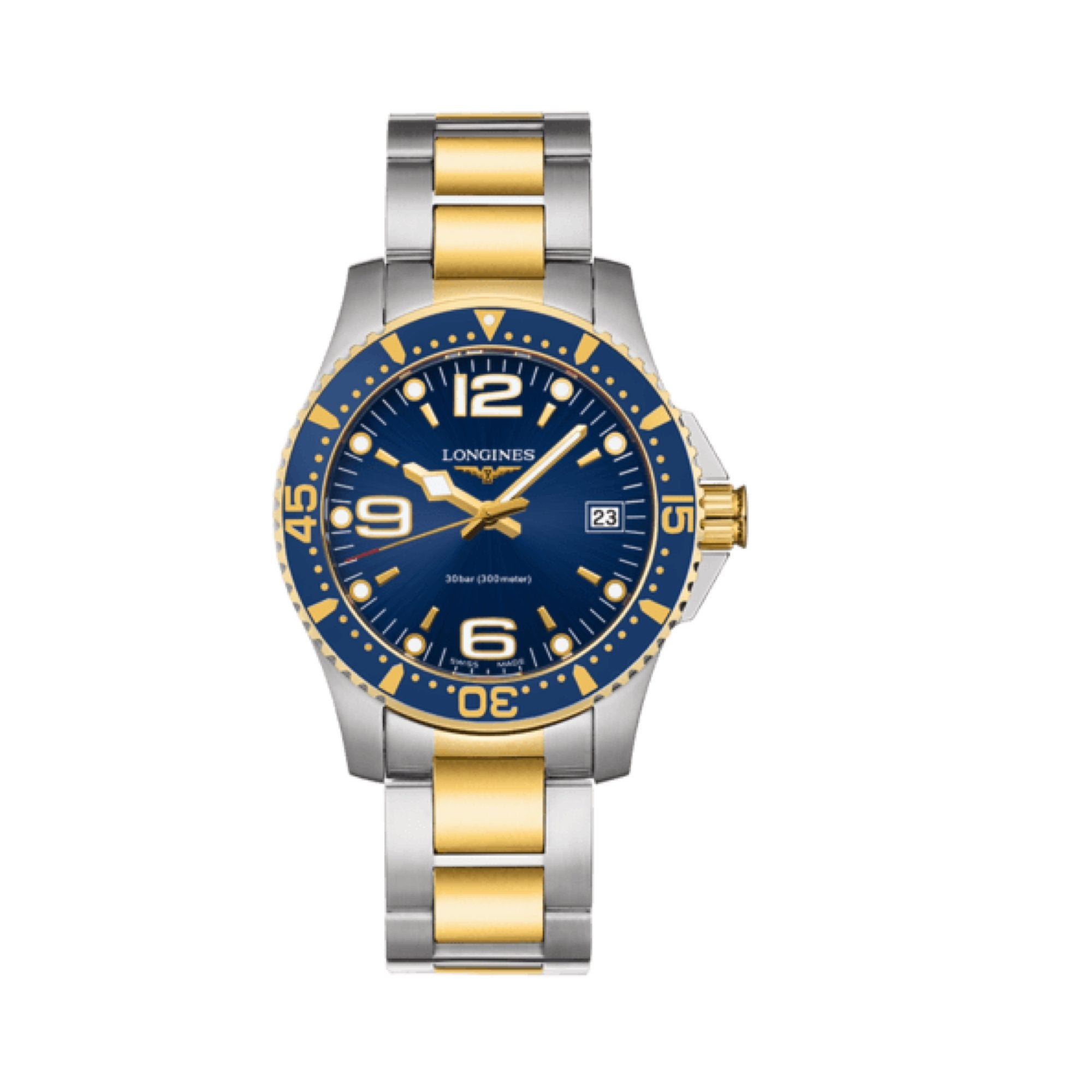 HYDROCONQUEST 34MM STAINLESS STEEL WATCH