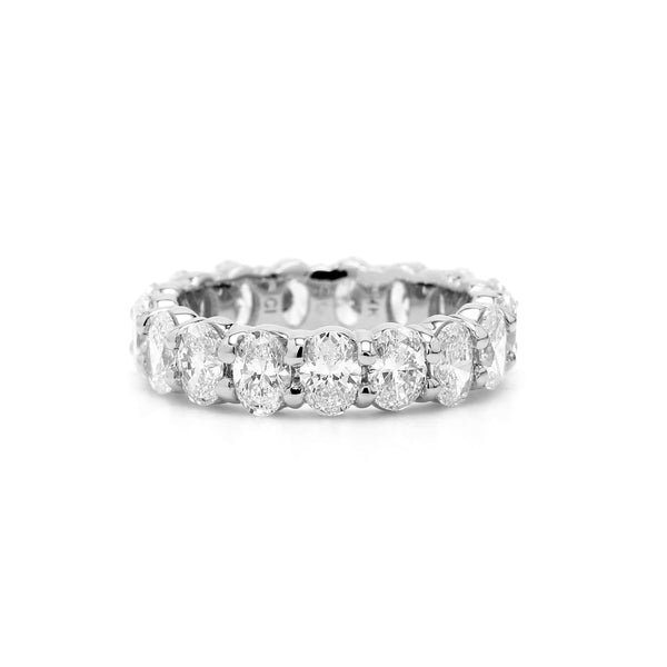 14K White Gold 3.75CTTW Lab Grown Diamond Oval Eternity Band