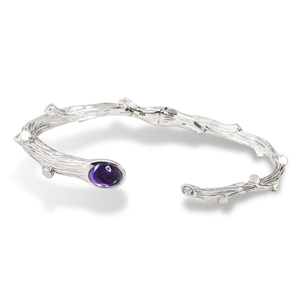 ENCHANTED FOREST BRACELET WITH AMETHYST AND DIAMOND