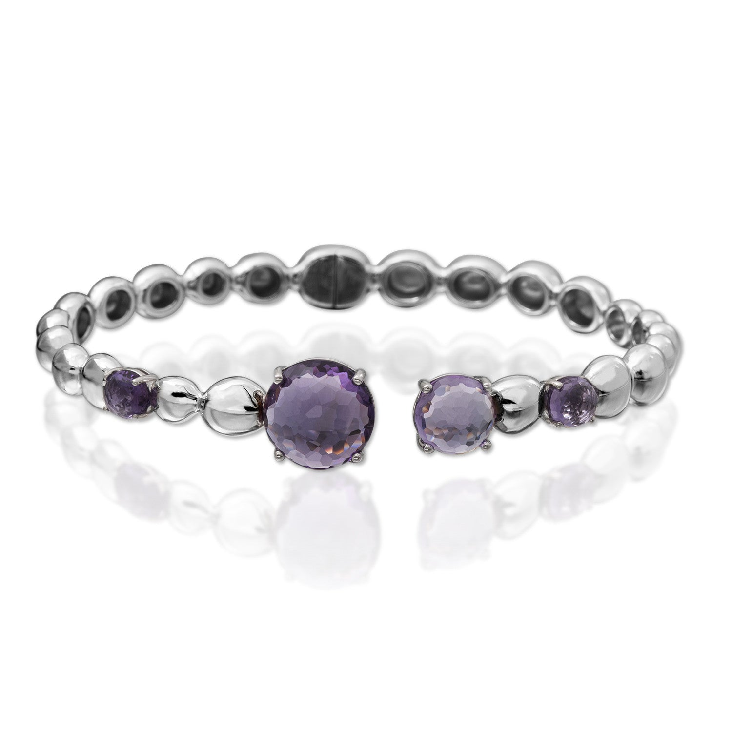 MOLTEN BANGLE WITH AMETHYST