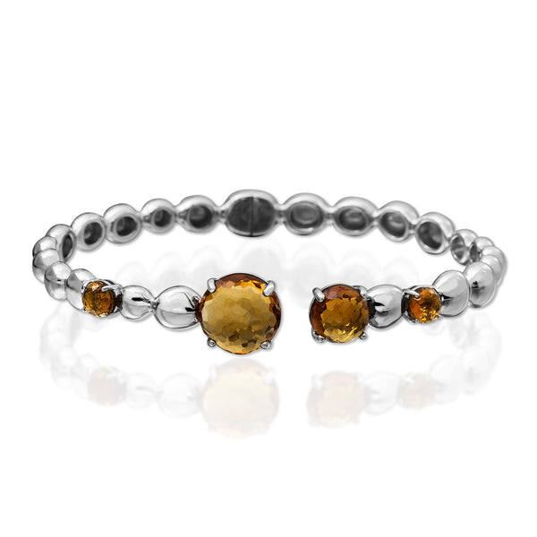 MOLTEN BANGLE WITH CITRINE