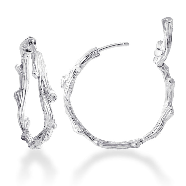 ENCHANTED FOREST STERLING SILVER HOOP EARRING