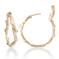 ENCHANTED FOREST GOLD HOOP EARRING