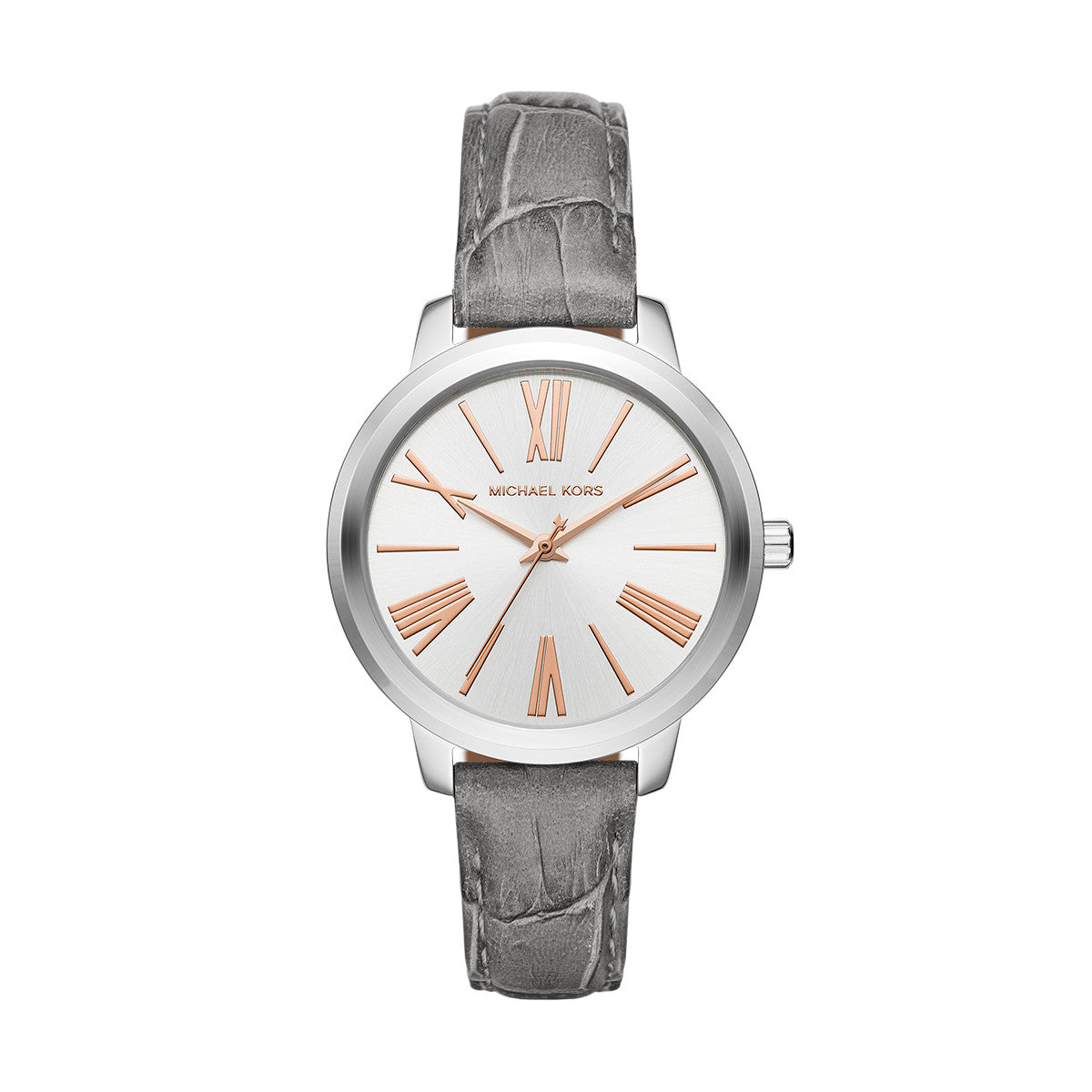 Hartman Gray Leather and Stainless Steel 3 Hand Watch